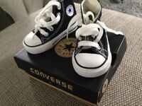 Converse black boots size 3 like new in box