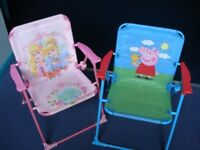 Pair of kids garden/camping chairs