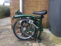 Brompton H3L Racing Green folding bike bicycle