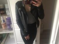 Leather Jacket-Size 8