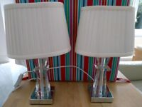 Pair crystal table lamps buy one get the other free