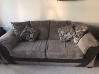 Sofa Bedd, swivel chair and poof