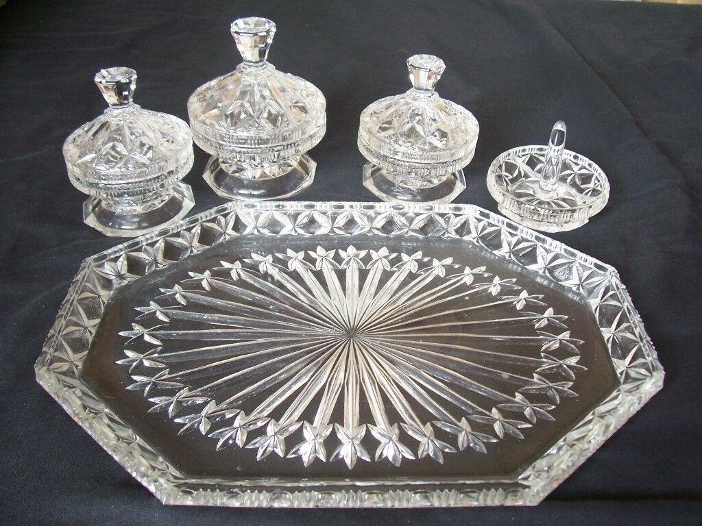 Vintage Crystal Dressing Table Set | in Norwich, Norfolk | Gumtree