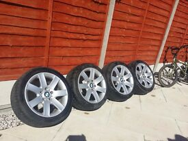 BMW Alloy wheels + tyres 17 inch / 225 / 45
