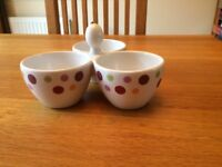 Pampered Chef Trio of Dots Serving bowls for snacks, dips, sauces and dressings