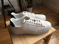 c82b4ad76cae Zara Man White Embossed Plimsolls Size 11