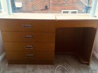 Vintage Desk with Generous Drawers