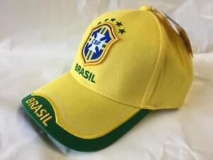2018 Russia World Cup Adjustable Hat National Soccer Sport Team Fans Cap Gift (Brasil)