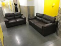 2x leather sofa set, Free delivery
