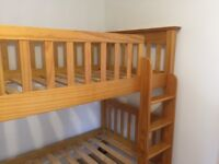 Bunk Beds- wooden Marks and Spencers. Good quality and in good condition, with ladder.