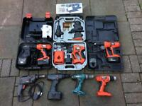 Joblot of drills/power tools
