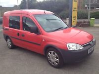 GENUINE VAUXHALL COMBO 1.3cc DIESEL 5 SEATER VAN. Ex ROYAL MAIL. TWIN SIDE DOORS. HARD TO FIND.