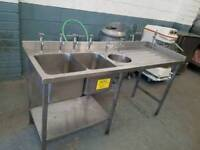 commercial stainless steel sink catering equipment double sink