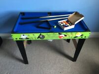 Chad Valley 3ft 4-in-1 Table Football / Pool / Tennis Multi-Game