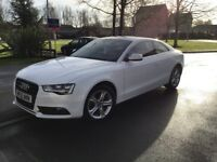 White Audi A5 2 door coupe. Full Service history and 12 month tax and MOT.