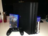 PS4 Pro 1tb - god of war, project cars 2 and 2 other games