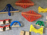 Large collection of wooden train. Big jigs Brio and ohers