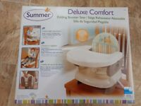 Summer Infant 2 Level Booster Seat (Feeding chair) - Safari Stripe , for making feeding time easier.