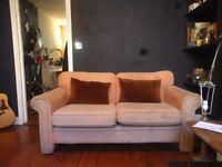 Peach ikea sofa