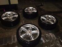 "Mint Condition VW Audi S4 'Peeler' Alloy Wheels with Tyres 18"" (Reps)"