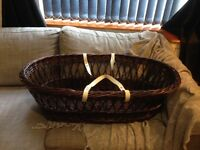 Luxury Moses Basket, Mattress & Stand