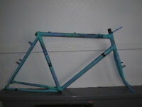 "Vintage 1980s Raleigh 21"" steel All Terrain Bike frame & forks"