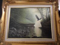 "David J Lawrence signed oil painting ""Kilmarnock Water"""