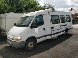 Renault master NHS patient carrier, needs lots of welding, spare/repair drives well.