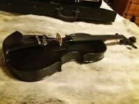 Full size metallic black violin