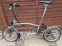 Brompton S6L Raw Lacquer 2012 with many upgrades