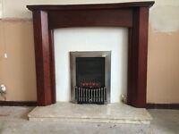 Gas fire Surround and Hearth