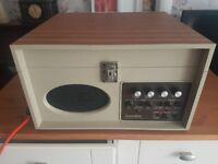Vintage antique coomber garrard record player