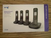BT ADVANCED PHONE Z 4 FOUR QUAD HANDSETS WITH 100% CALL BLOCKING AND ANSWER MACHINE BRAND NEW BOXED