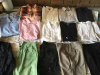 """Bundle clothes teenagers /men's size W30 L32 Shirts size 14,5 -15"""" Used 18 items £25"""