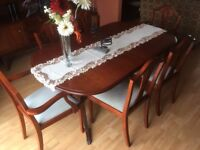 DINING TABLE (Extendable) with 6 No. CHAIRS - £215 ono ***NEW PRICE***