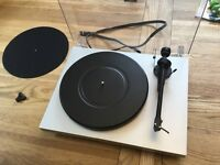 A very nice Pro-ject Debut 3 SB turntable in grey with integrated speed box and phono stage