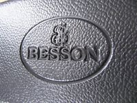 Besson London 600 Trombone in rare Silver plate & music stand