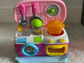 Interactive play kitchen