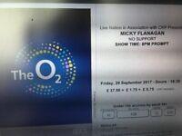 Micky Flanagan Tickets O2 Friday 29th September 2017 x 6