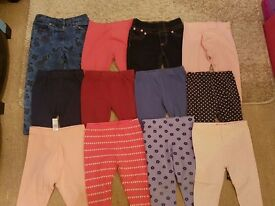 Bundle of Girls Trousers - 2-3 years - 16 pieces