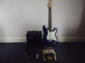 Electric Guitar c/w Practice Amp