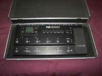Stagg Hard Case / Pedal Board for Line6 POD HD500X, 500, 400, 300, X3 Live, XT Live, Digitech, BOSS