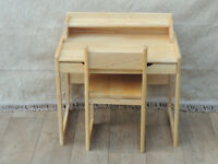 Desk and chair solid wood for kids (Delivery)