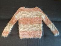 Miss Selfridge Fluffy Jumper Size 8