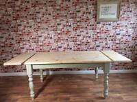 Painted Farmhouse Pine Dining Table / Extending Table - in Huge Range of Adaptable Sizes