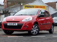 2010 REG RENAULT CLIO EXTREME 1.2cc 3 DOOR. Call PaisleyCarSales on 01418899200 / Mob, 07895607121