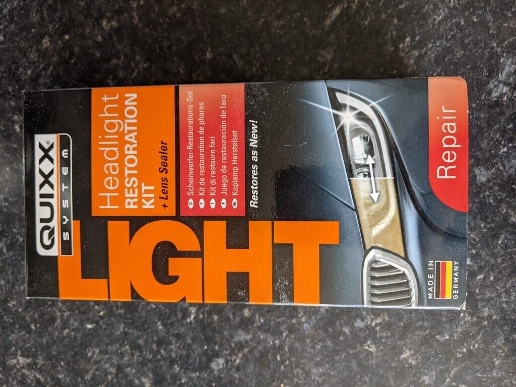 Headlight restoration kit – Quixx – to repair old/yellowed headlights