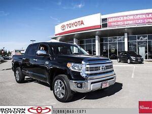 2015 Toyota Tundra 4x4 Crewmax Platinum 5.7 6A LOW Kilometers, O