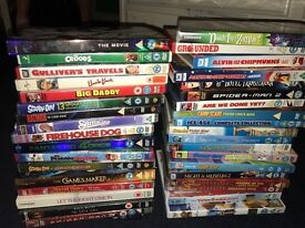 40 odd kids dvds and couple adult