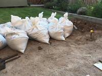 Mixture of sand, soil and small rock